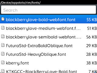 See Photos: How To Install Any New Font On Your Blackberry Device, Manually