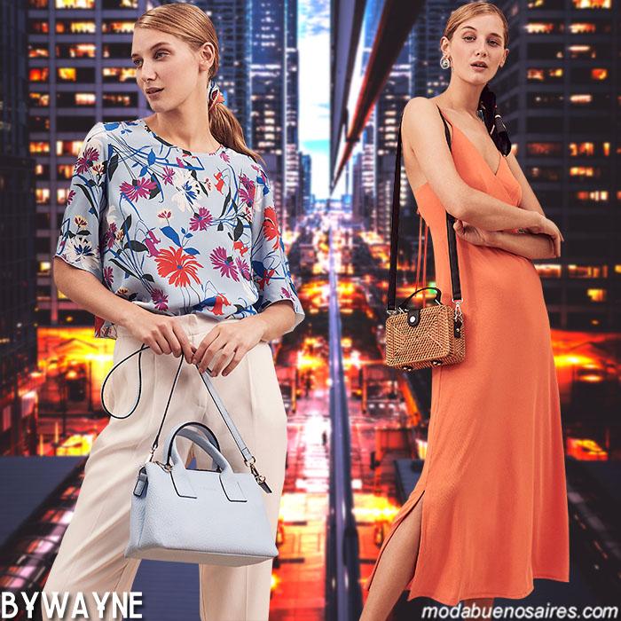 Moda primavera verano 2020 mujer. Ropa de mujer primavera verano 2020: pantalones, blusas, vestidos.