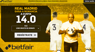 betfair supercuota Real Madrid gana a Numancia 4 enero