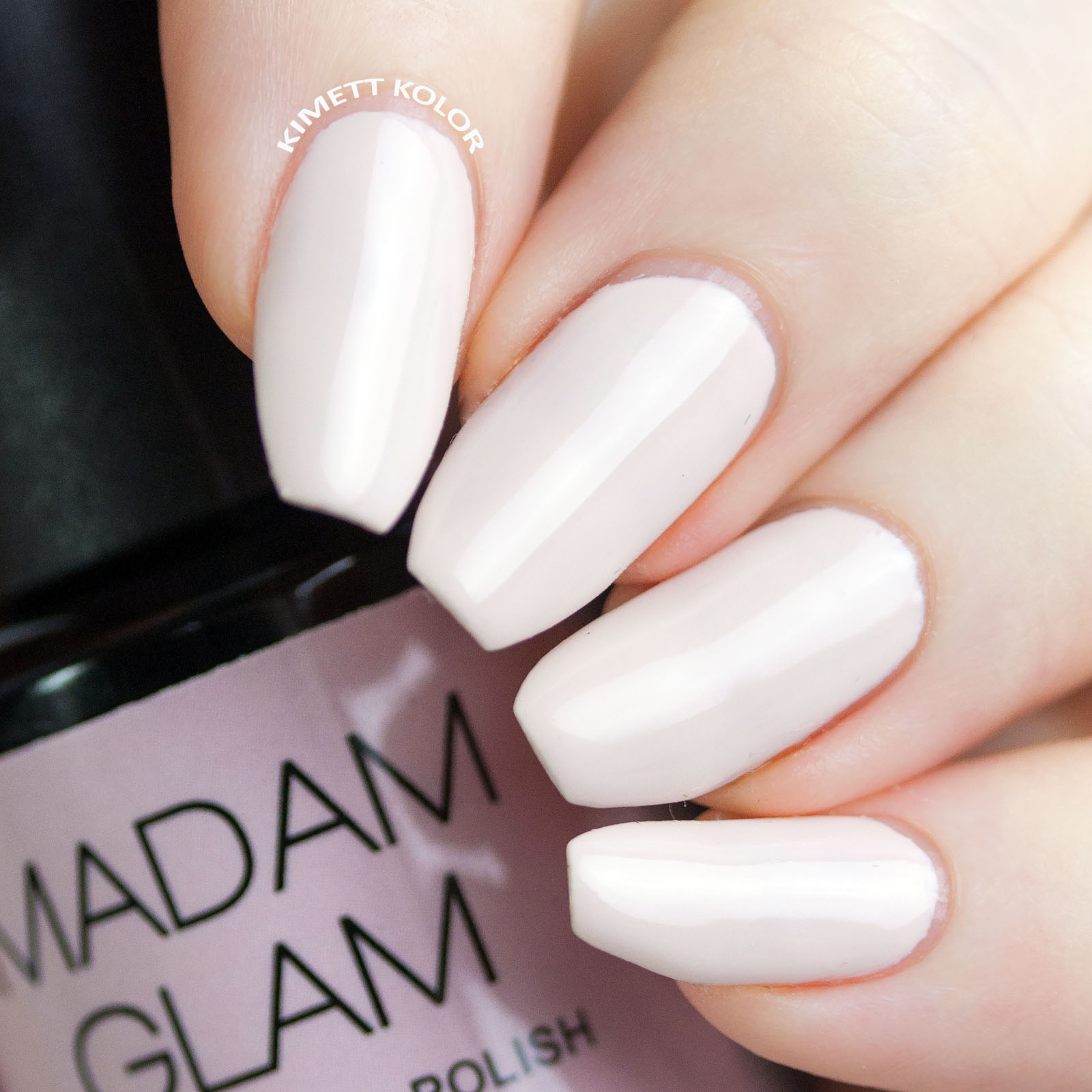 Kimett Kolor Swatch of Madam Glam Ballerina Gel