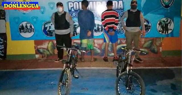 Dos malandritos detenidos por vender bicicletas robadas en Miranda