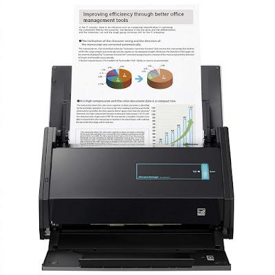 sided scanning alongside advanced newspaper feeding organisation  Fujitsu ScanSnap iX500 Driver Downloads
