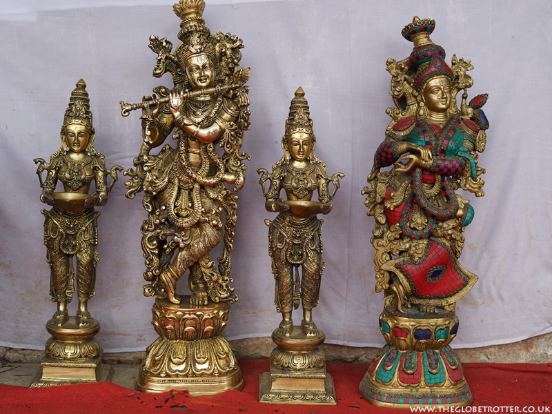 Brass idols at Shilparamam Arts and Crafts Village