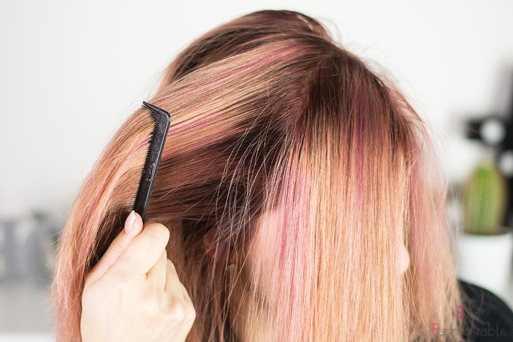 Alarmstufe dustedRouge Schwarzkopf Professional Haare trocken