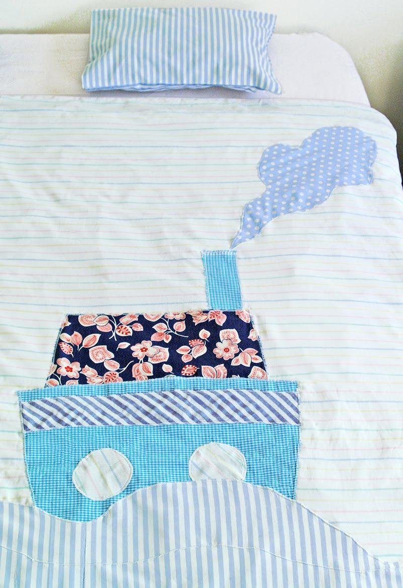 le blog de th vy parure de lit enfant bateau boat kid bedding set. Black Bedroom Furniture Sets. Home Design Ideas