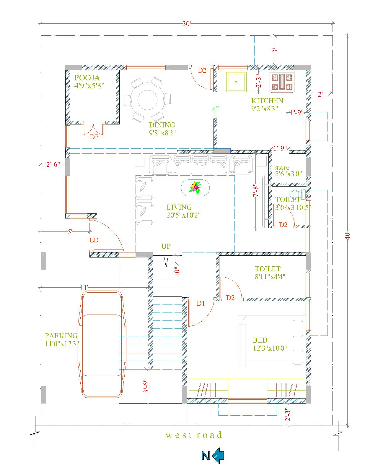 house plans and building construction 30x40 duplex any