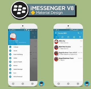 BBM Mod New BlackBerry Style 3.1.0.13 apk [iMessenger V8 Material Design]