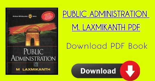 Mcgraw hill Latest Public Administration M Laxmikant Free Pdf