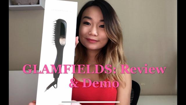 Review and Demo Glamfield's Heated Straightening Brush