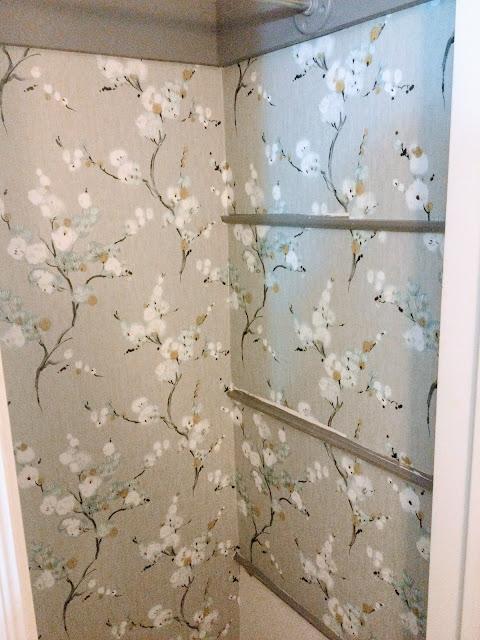 How to wallpaper a closet