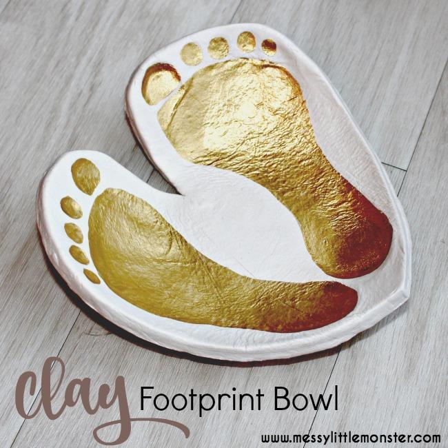 clay footprint heart