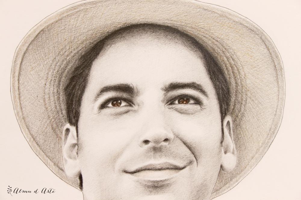 Retrato masculino dibujado a mano