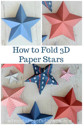 how to fold 3d paper stars