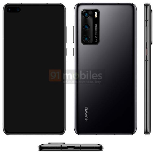 هذا هو تصميم ومواصفات الهاتف Huawei P40 القادم من شركة هواوي.