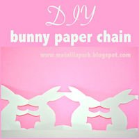 free printable bunny chain garland