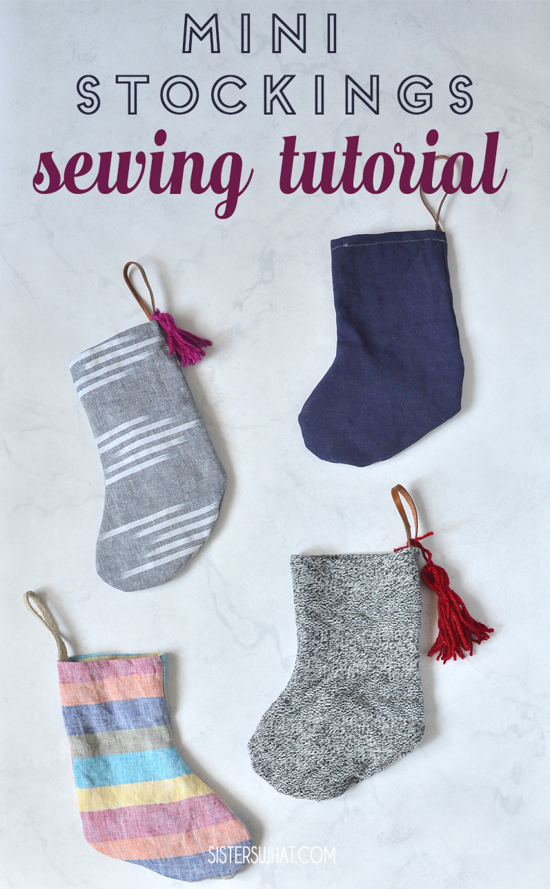 mini stocking sewing tutorial