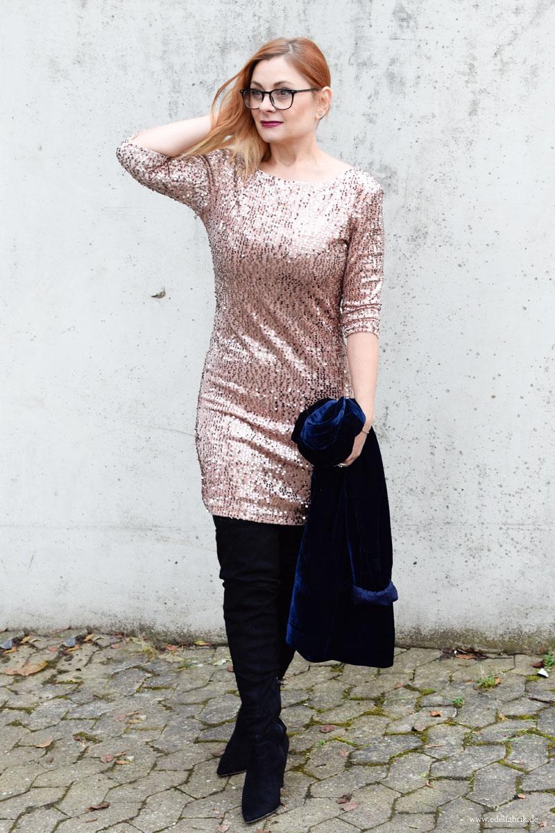 Rosa kleid mit pailetten