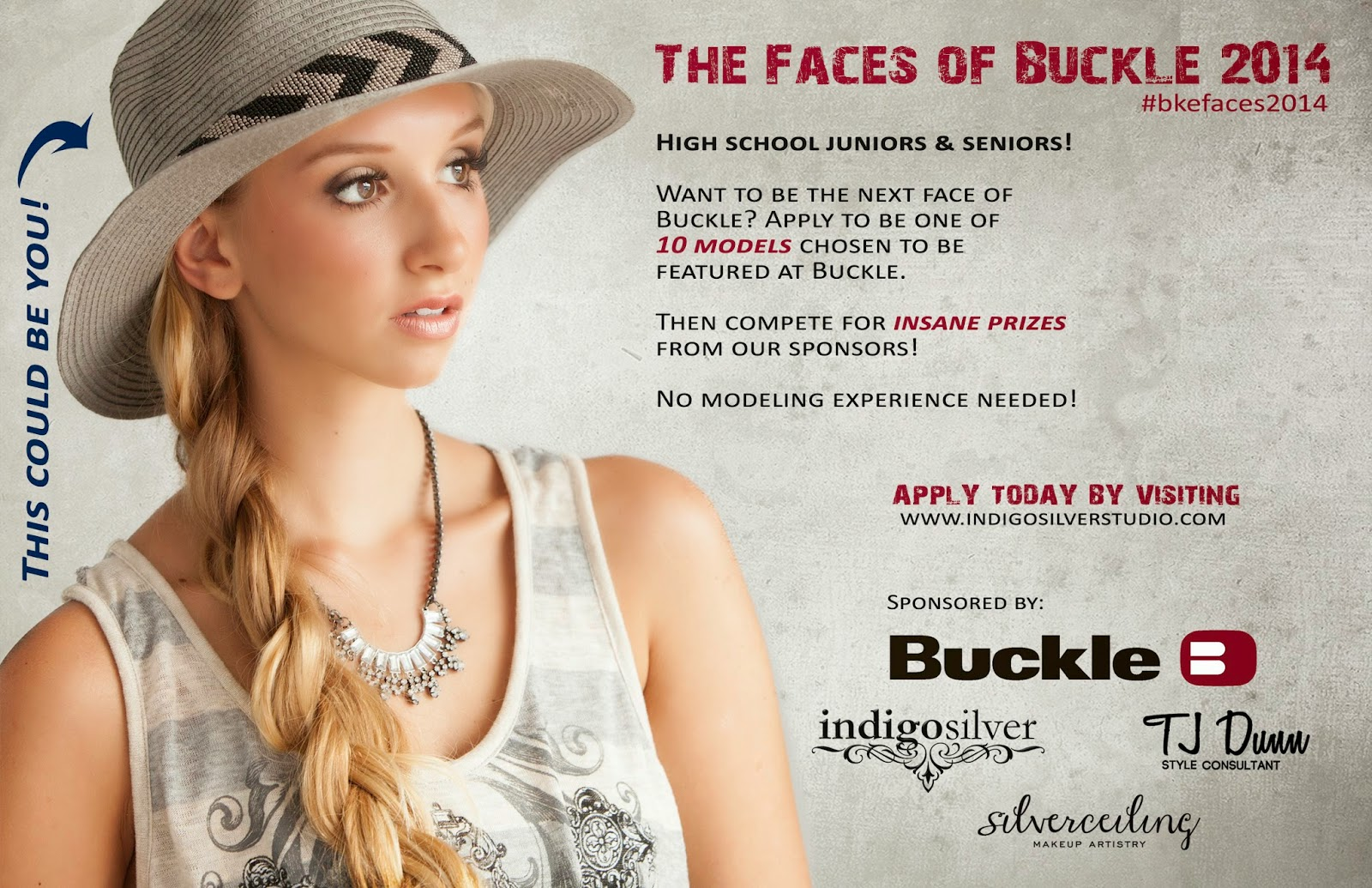 faces of buckle 2014 | calling all high school juniors and seniors