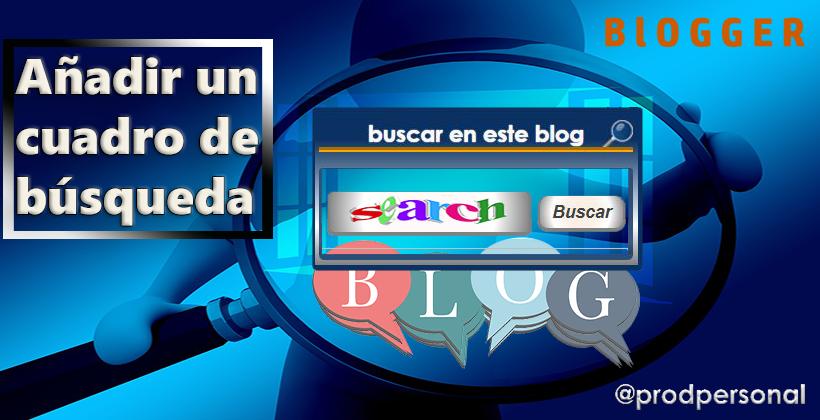 Añadir el buscador al blog