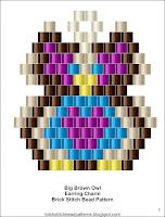 Free brick stitch bead pattern.
