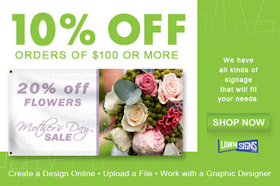 10% off orders of $100+ through 4/30/16 | Lawnsigns.com
