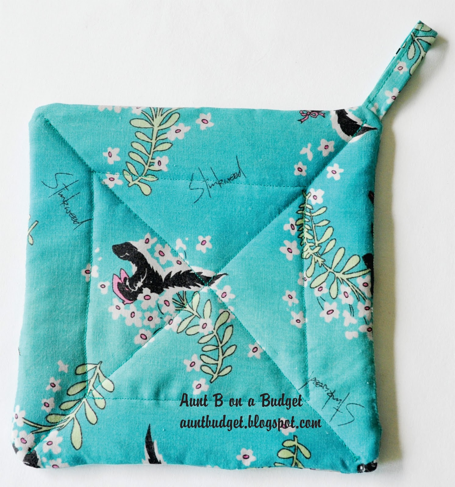 Homemade Pot Holders: Aunt B On A Budget: Re-Vision: Making Or Re-Covering