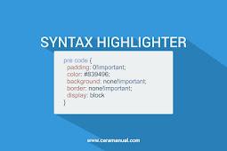 Cara Membuat Syntax Highlighter di Blogger