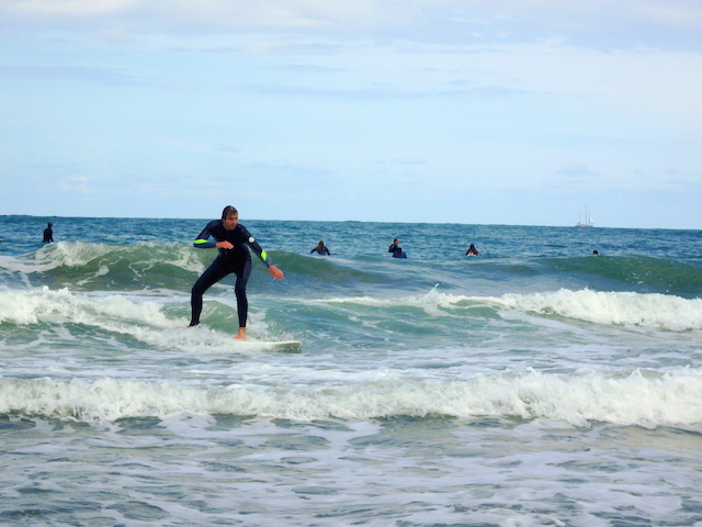 Surfing Biarritz, France