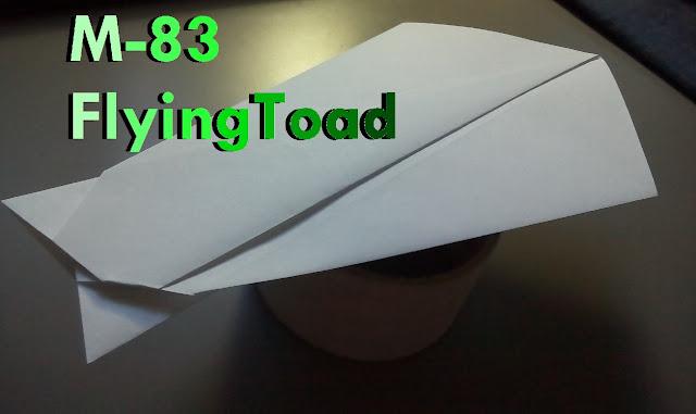 Avión de papel M-83 FlyingToad