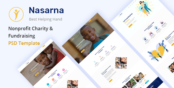 Best Nonprofit Charity PSD Template