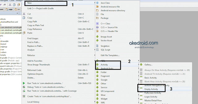 Membuat Activity Baru Android Studio