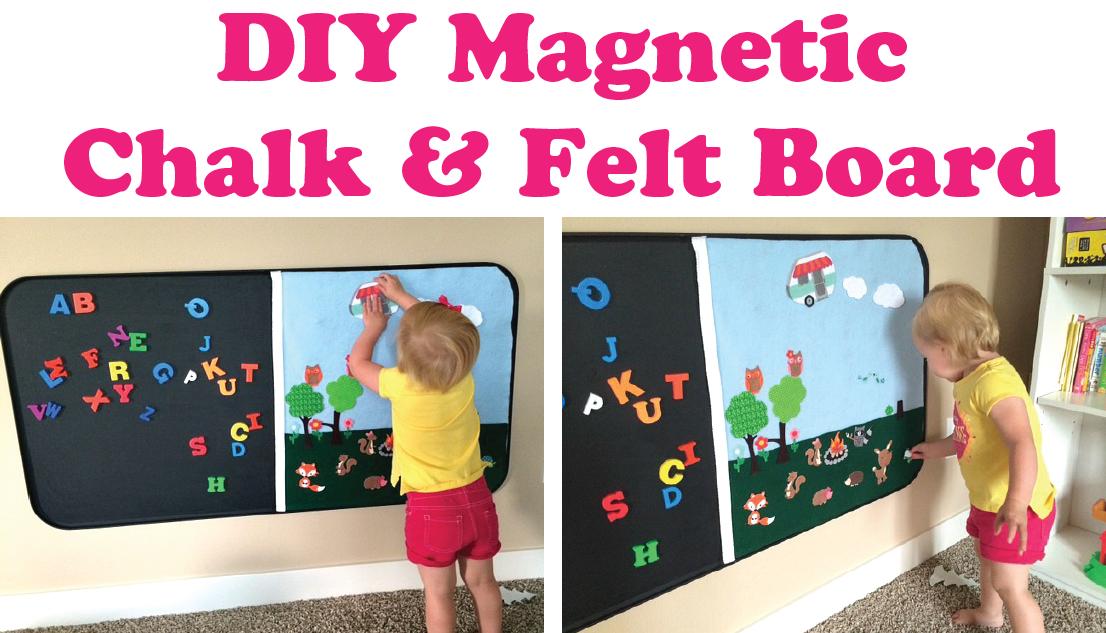 Everyday Confetti Diy Magnetic Chalk Amp Felt Board