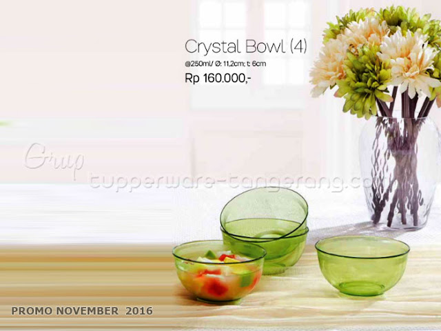 Crystal Bowl Promo Tupperware November 2016