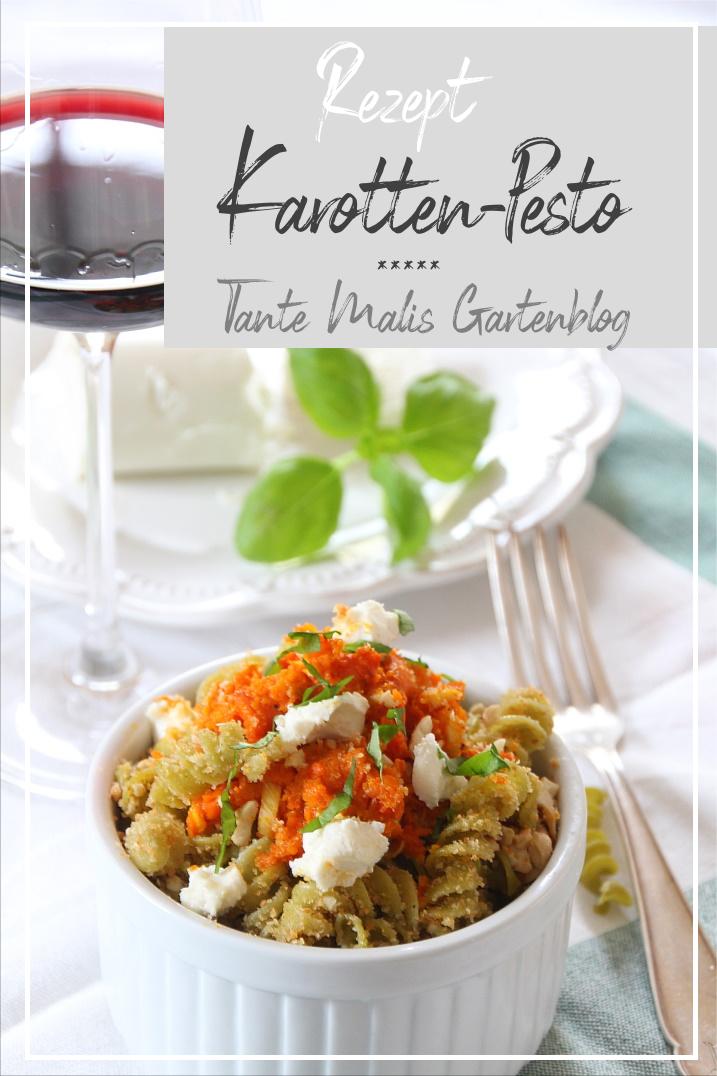 Karottenpesto mit Nudeln nach eigenem Rezept