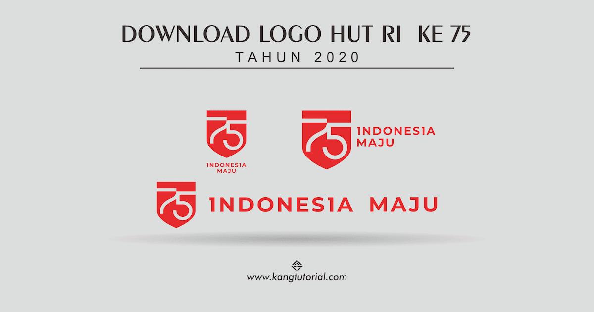 Download Logo HUT RI Ke 75 Tahun 2020 Format CDR Dan PNG ...
