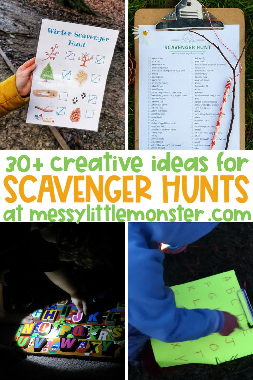 30 creative scavenger hunt ideas for kids