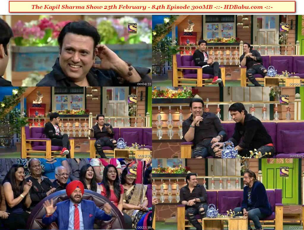 The Kapil Sharma Show Episode 84 – 25th February 2017