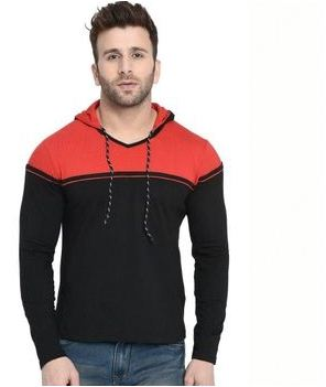 Trending Cotton Blend Hooded T-Shirt
