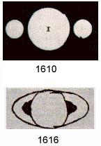 Galileo's sketch of Saturn