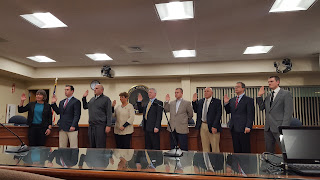 the newly elected Franklin Town Council was sworn in on Nov 15, 2017