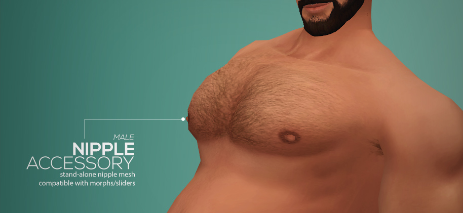 My Sims 4 Blog: Body Hair Recolors, Accessory Nipples and