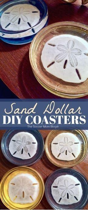 DIY Sand Dollar Resin Coasters