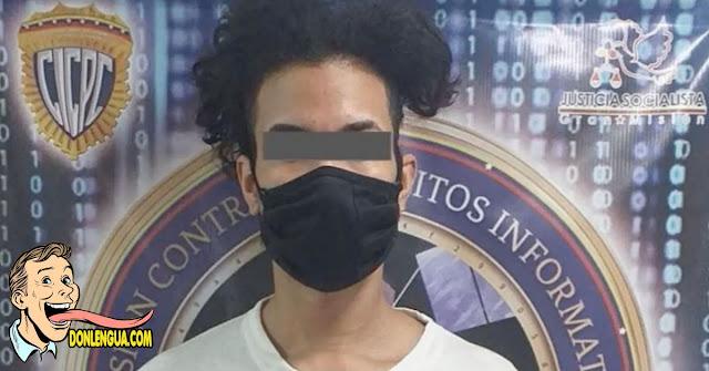 Cristian fue capturado por hacerse pasar por mujer en las redes para vender sus videos y fotos