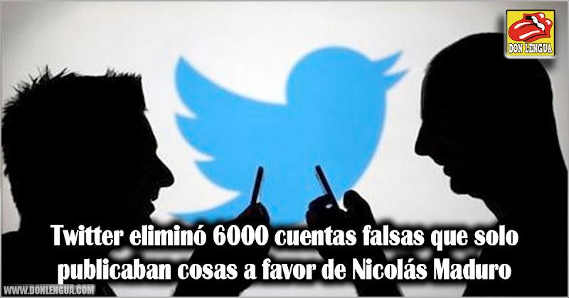 Twitter eliminó 6000 cuentas falsas que publicaban cosas a favor de Nicolás Maduro