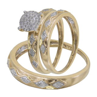 Cheap White Gold Wedding Rings Sets For His And Her