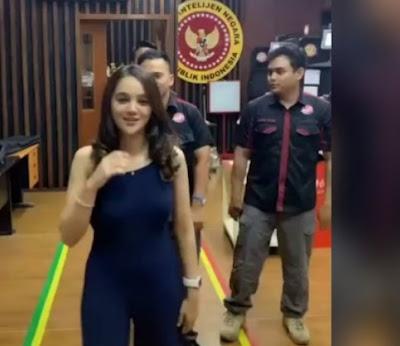 Video Hana Hanifah Goyang TikTok, Lokasinya Terpampang Logo BIN