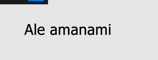 Ale amanami
