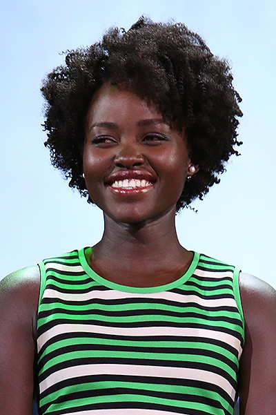 Lupita Nyong'o has demonstrated a new hairstyle