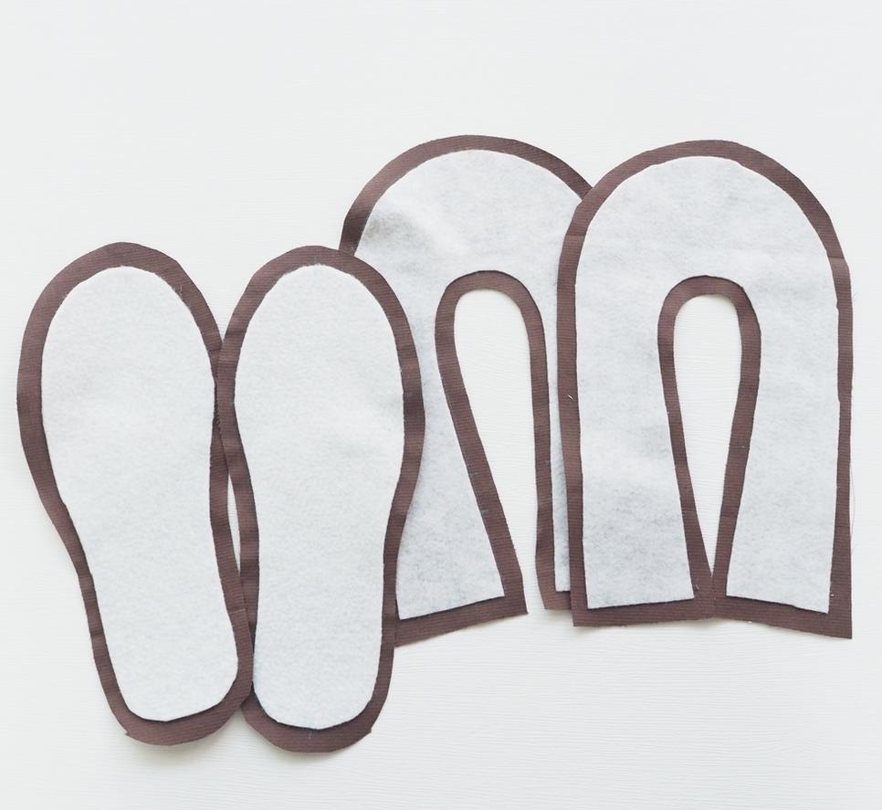 DIY Fabric Slippers, Sewing Idea ~ Free-Tutorial.net