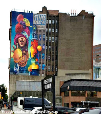 Five Below Wall Mural Street Art in Philadelphia Pennsylvania